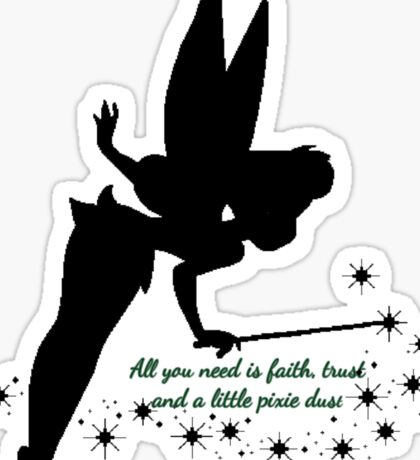 Tinkerbell Peter Pan Quote  Sticker