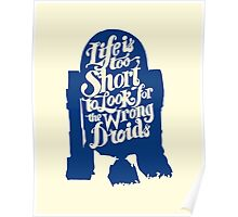 Life is too short to look for the wrong droids Poster