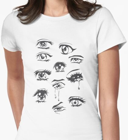 Eyes Know Saying Art Shirt Womens Fitted T-Shirt