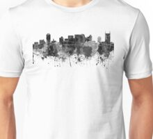 Nashville skyline in black watercolor Unisex T-Shirt