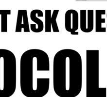 Chocolate Questions Understands Sticker
