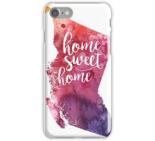 British Columbia Watercolor Map - Home Sweet Home Hand Lettering - Giclee Print of Original Art iPhone Case/Skin