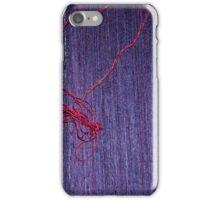 Handmade Blue Thai Silk With Red Thread iPhone Case/Skin