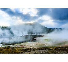 Yellowstone National Park Geysers Photographic Print