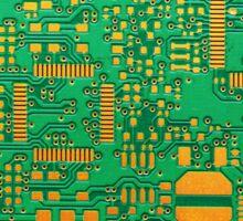 green electronic circuit board Sticker