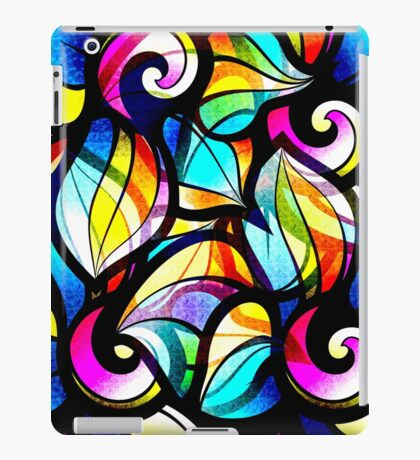 Colorful Stained Glas Like Abstract Swirls iPad Case/Skin