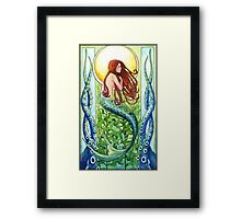 Kelp Forest Mermaid Framed Print