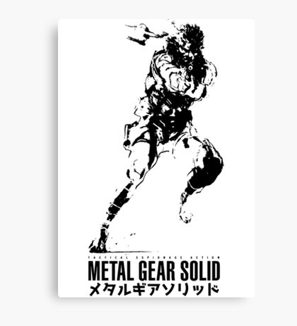 Metal Gear Solid Snake Canvas Print