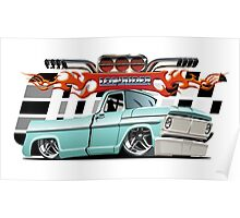 Cartoon retro lowrider Poster