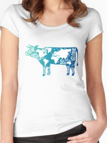 Moo Globe Women's Fitted Scoop T-Shirt