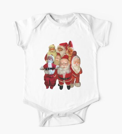Vintage Christmas Santa Thugs Collage  One Piece - Short Sleeve