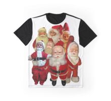 Vintage Christmas Santa Thugs Collage  Graphic T-Shirt