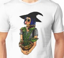 Potted Plant Witch Inktober Marker Drawing Unisex T-Shirt