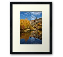 Autumn In The Susan River Canyon Framed Print