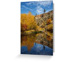 Autumn In The Susan River Canyon Greeting Card