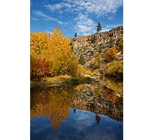 Autumn In The Susan River Canyon Photographic Print