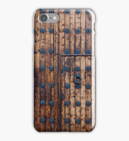 Old Small Door Within Large Doors iPhone Case/Skin