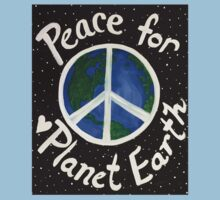 Peace for Planet Earth One Piece - Short Sleeve