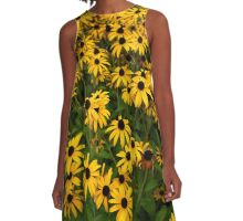 Sea of Yellow A-Line Dress