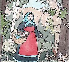 Babushka on her travels by ChristmasPress