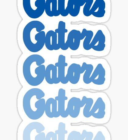 UF Gators Ombre- Blue Sticker
