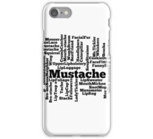 Mustache Funny Slang iPhone Case/Skin