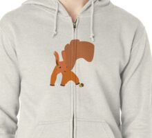 Cute Love squirtle For Animal Lovers Zipped Hoodie