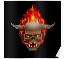 Doom Skull Retro Poster