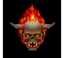 Doom Skull Retro Photographic Print