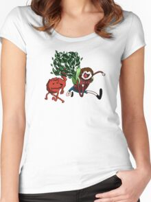 Leafy & Pyrocynical Adventure Time Women's Fitted Scoop T-Shirt