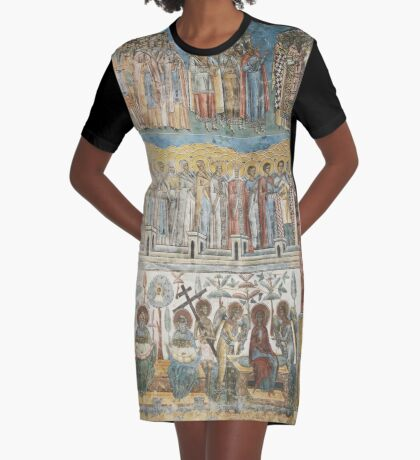 Voronet Monastery - As Bellow So Above. Photography by Alice Iordache Graphic T-Shirt Dress