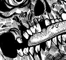 Wicked Tongue Skull Sticker
