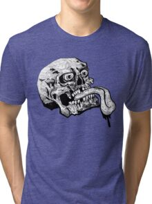 Wicked Tongue Skull Tri-blend T-Shirt