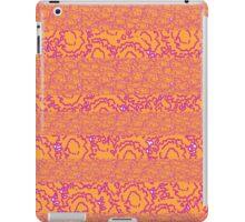 Cool cute girly swirls pink and orange pattern iPad Case/Skin
