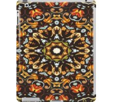 bohemian floral print autumn leaf brown yellow orange mandala  iPad Case/Skin