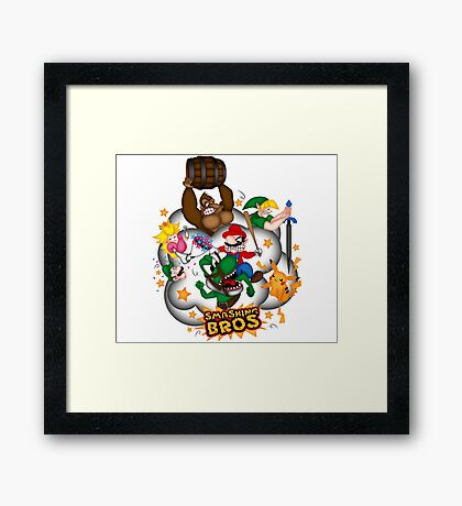 Smashing Bros Framed Print