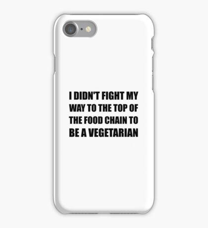 Top Food Chain Vegetarian iPhone Case/Skin