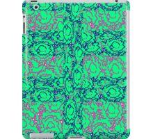 Cool modern swirls pink blue green pattern iPad Case/Skin
