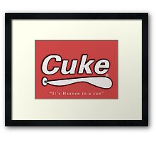 Cuke Cola (It's Heaven in a can) - The IT Crowd Framed Print