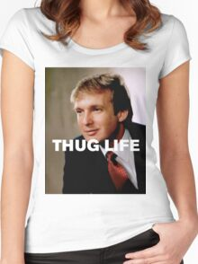 Throwback - Donald Trump Women's Fitted Scoop T-Shirt