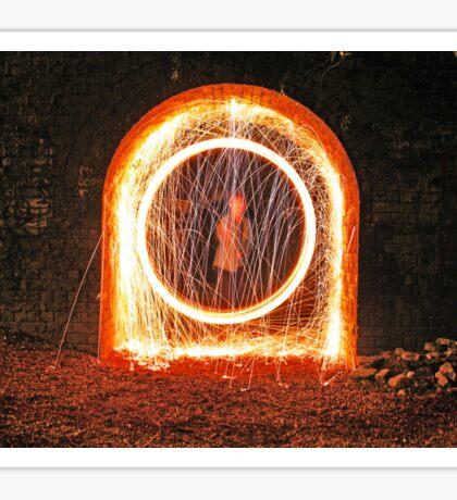 Urban sparks with steel wool Sticker