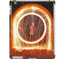 Urban sparks with steel wool iPad Case/Skin