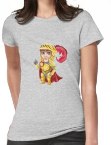 Cute Vector Graphic Warrior  Womens Fitted T-Shirt