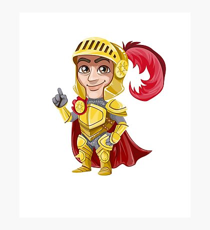 Cute Vector Graphic Warrior  Photographic Print