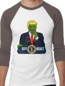 Pepe the Frog Donald Trump Men's Baseball ¾ T-Shirt