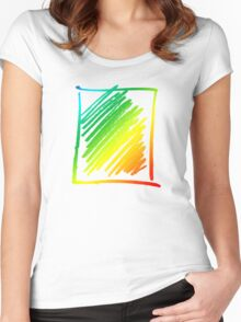 Rainbow Scribble Women's Fitted Scoop T-Shirt