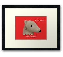 All That Glitters: Polar Bear with Ear-ring Framed Print