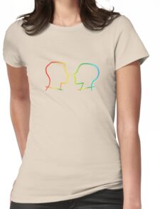 Rainbow Coloured Silhouettes Womens Fitted T-Shirt