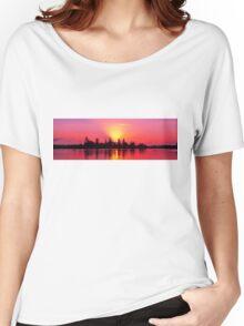 Magenta Sunrise over Water. Lake Macquarie, Australia. Women's Relaxed Fit T-Shirt