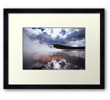 The Earth Evaporates - Travel Photography Framed Print